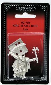Ral Partha 02-710 Orc War Chief (Fantasy Armies) Warrior Leader Commander Hero