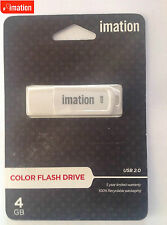 Brand New - IMATION 4GB USB 2.0 COLOR USB DRIVE WHITE !!FREE POSTAGE!!