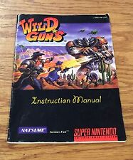 Wild Guns Manual ONLY Super Nintendo SNES NO GAME CARTRIDGE Booklet Instruction