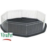 VivaPet Small Pet Playpen Cage Run & Floor Mat, Rabbit Guinea Pig Hamster Ferret
