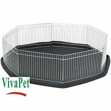 VivaPet Small Pet Playpen Cage Run & Floor Mat, Rabbit Guinea Pig Hamster Ferret