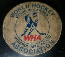 Scarce Vintage Converse Puck WHA World Hockey Association - Birmingham Bulls