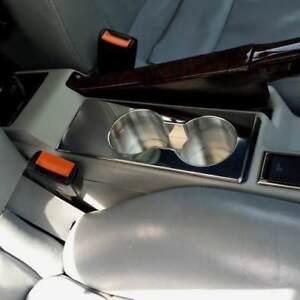 D Audi 80 90 B4 Getränkehalter für Konsole - Mitte -  Aluminium poliert