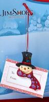 SNOWMAN FIGURE JIM SHORE CHRISTMAS 3D ORNAMENT CASH GIFT CARD HOLDER + ENVELOPE