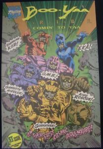 BOO-YAA T.R.I.B.E. COMIN TO YAA 1 TRIPLE R COMIC MUSIC RAP GROUP STROMAN 1990 NM