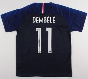 Ousmane Dembele Signed France National Nike Jersey (Beckett COA)Barcelona Winger