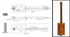 4-String Acoustic Cigar Box Guitar Full-Scale Plan