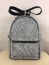 BNIP Black DKNY Authentic Designer PVC Backpack Rucksack School Bag RRP £185