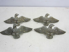 4 Vintage Brass or Cast Metal Eagle Drawer Pulls  #528
