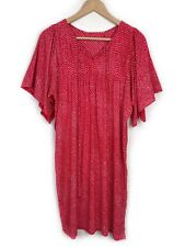 Akira Isogawa Red Dot Print Dress Size 2 / 8 Wide Short Sleeve Pleated
