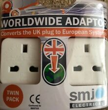 U.K. To Worldwide Travel Adaptor [Pack 2] Best Price On Ebay
