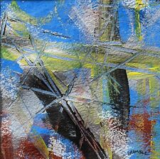 More details for original acrylic painting abstract art on paper 10