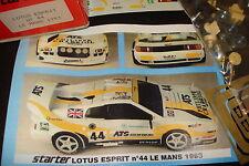 Lotus Esprit Le Mans 1993 1/43 Starter Resin Kit unbuilt rar raro n. AMR BBR rar