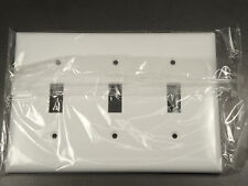 Lot of 2 White 3Gang Toggle Switch Wall Plates Slater Pass & Seymour Sp3-W Cover