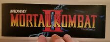 Mortal Kombat Ii marquee sticker. 3.25 x 10.5 (Buy 3 stickers, Get One Free!)