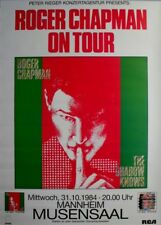 CHAPMAN, ROGER - 1984 - Konzertplakat - Shadow Knows - Tourposter - Mannheim