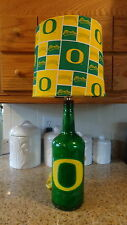 Sports Table/Desk Lamp (Hand-Painted Univ. of Oregon Logo/Team Shade)