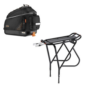 Ibera Bike Trunk Bag Rear Carrier Rack(Non Disc Brake Mount) Combo Quick-Release