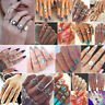 9Pcs/Set Anello Metallico argento metà dito Anello knuckle rings Midi Ring Donna