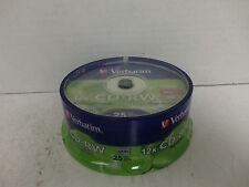 25 Pack CD-RW Blank Media Disks Discs Rewritable 12x