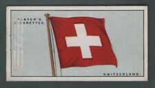 The Flag Of Switzerland Swiss 1920s Ad Trade Card