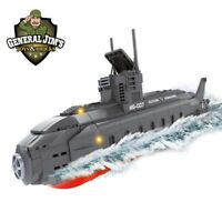 Submarine Toy Nuclear Sub With Soldiers WW2 Brick Ship Army Military Submarine