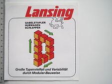 Aufkleber Sticker Lansing - Gabelstapler Hubwagen - Modular-Bauweise (M1714)