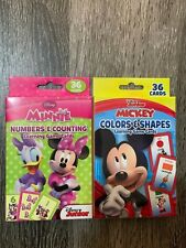 Disney Junior Mickey & Minnie MouseFun Learning Flash Cards Total Of 72 Cards