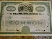 Erie Railroad Company Stock Certificate-2 Shares