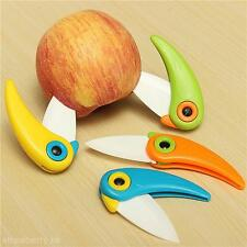 New Mini Bird Kitchen Fruit Vegetable Ceramic Folding Pocket Knife Cutlery Tool