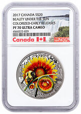 2017 Canada Mother Nature's Beauty Under Sun 1 oz Silver NGC PF70 UC ER SKU48353