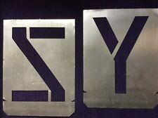 26 Buchstaben-Schablonen mit 15cm Schrifthöhe Großbuchstaben von A- Z aus Metall