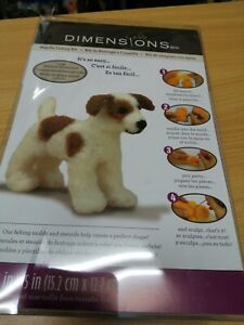 New Dimensions Dog Puppy Terrier Jack Russell Needle Felting Kit Xmas Gift