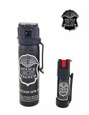 POLICE MAGNUM Pepper Spray 4 oz Ounce Safety Flip Top Belt Clip Defense Security