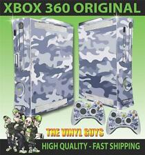 XBOX 360 OLD SHAPE URBAN CAMOUFLAGE CAMO ARMY STICKER SKIN & 2 PAD SKINS