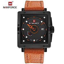 NAVIFORCE fashion sports quartz men Genuine Leather wrist watch