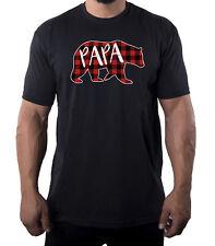Men's Papa Bear Shirt with Buffalo Plaid, Men's Shirts, Cool Shirts for Dad