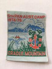 Boys' Brigade 5th PA Camp 1975 cloth badge, Cradle Mt Hike