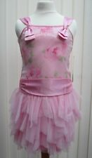 Girls Pretty Pink Sleeveless Party Sequin Rose Dress Ages 7 8 9 10 BNWT