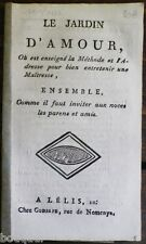 COLPORTAGE : Jardin d'Amour entretien Maîtresse Caen Chalopin Bibliothèque Bleue