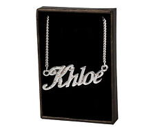 """Name Necklace """"KHLOE"""" –18K Gold Plated 