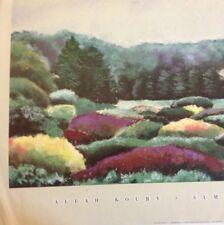 "Art Print: ""Summer Border"" Aleah Koury. 27 X 40. Large 1989"