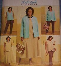 plus W 26-32 Pattern jacket skirt pants tank CLassyLook