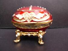 Noble Bijoux __ Boîte Métal Avec Véritable Swarovski Pierres_Émaillé ____
