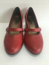 Damart T Bar Shoes Red Size 7 New and in Box