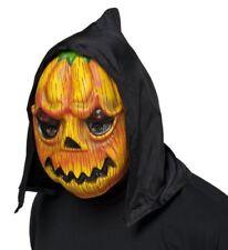 Maschera Zucca Horror Plastica con Cappuccio Carnevale Halloween Travestimenti