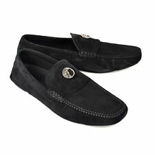 VERSACE COLLECTION MEN'S SUEDE FASHION LOAFERS w/LOGO - SIZE: EU 45 US 11 NEW