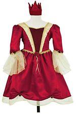 Childs Burgundy Red Medieval Princess Dress Age 6-8 Fancy Dress Costume P8296