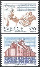 Sweden 1994 J H Roman/Composers/Music/Opera House/Buildings 2v set coil (n43532)