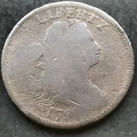 1797 Large Cent Draped Bust One Cent nice early coin #4834
